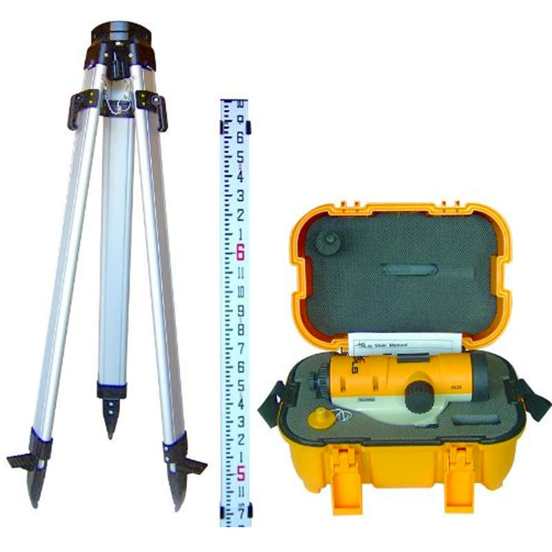Pls Optical Level Kit With Tripod And Rod Pacific Laser